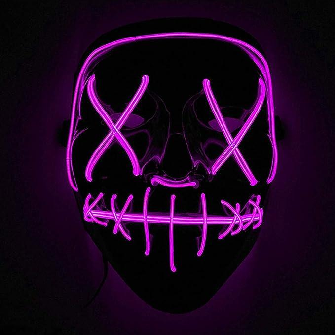 Máscaras led para disfraz de color rosa flúor