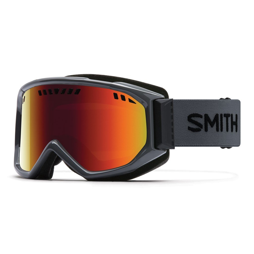 Smith Scope Goggles Charcoal/Red Sol X Mirror, One Size by Smith Optics