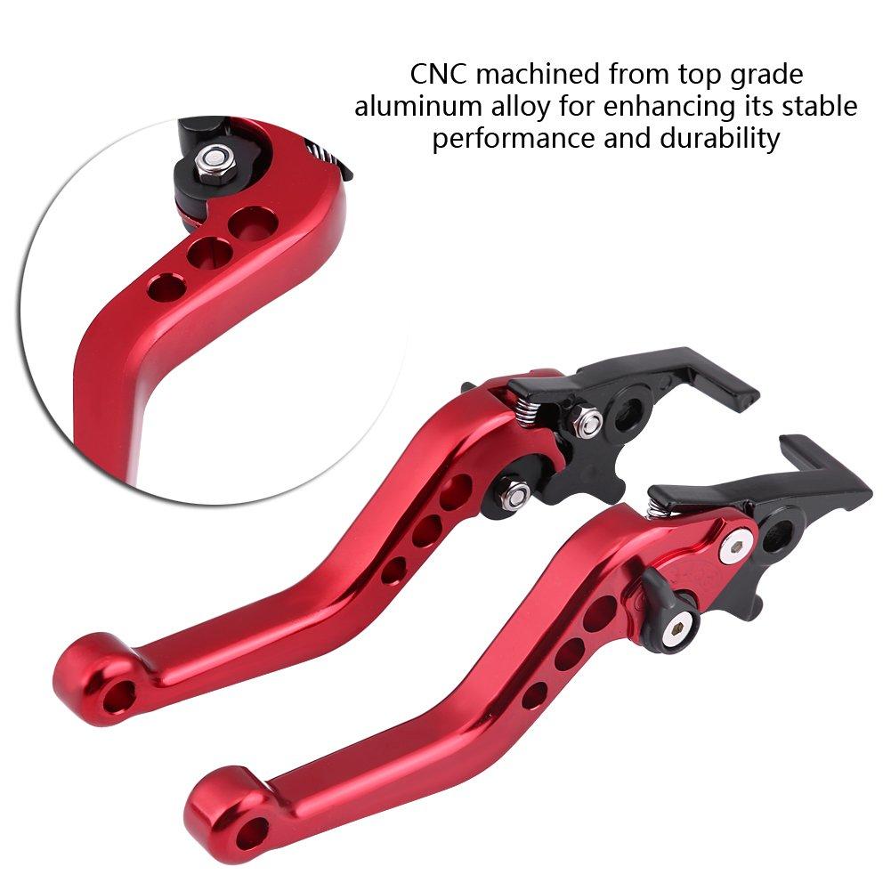 Red Qiilu QL05867 1 paio CNC in lega di alluminio Moto Scooter modifica Doppia leva del freno a disco Universale