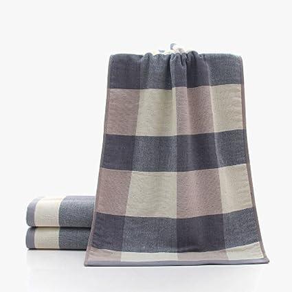 Toalla Toallas de tela escocesa, Toallas de punta fina de algodón para baño, Toallitas absorbentes, ...