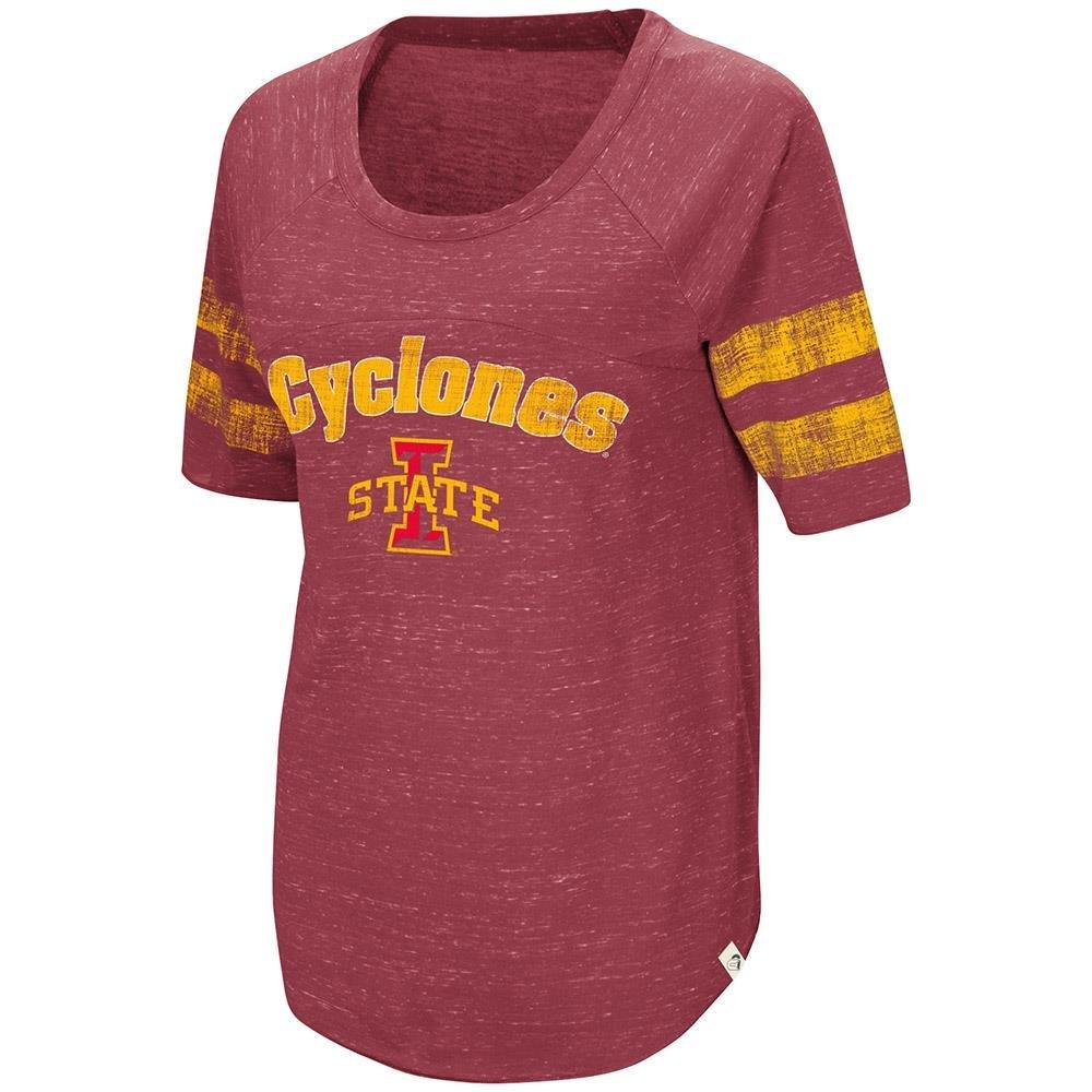 Womens Iowa State Cyclones Bean BabbittラグランTeeシャツ B07C5ZNB97  X-Large