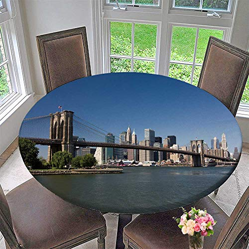 (PINAFORE HOME Round Tablecloths Brooklyn Bridge New York or Everyday Dinner, Parties 55