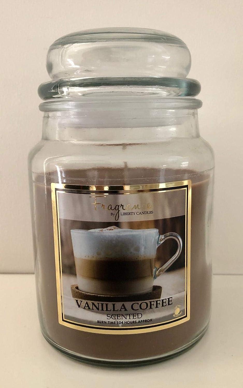 Liberty Fragrance Large Scented Candle 18oz Vanilla Coffee Amazon Co Uk Lighting