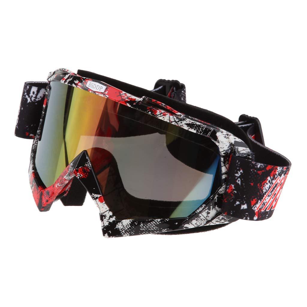 A018 Specchio colorato Mascherina Occhiali Motocross Enduro Sci Snowboard Antivento Antipolvere Antigraffio