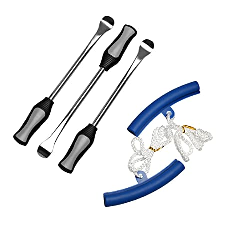 Dolity Kit de Palanca Neumático Protector Tubo de Llanta Herramientas para Cambiar Rueda Moto - Azul