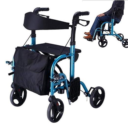 Andador plegable con ruedas - Andador con ruedas médico de 4 ...