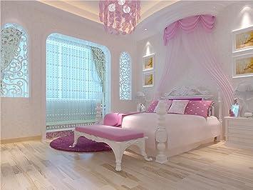 Rose Chambre à coucher pour fille en bois de sol ...