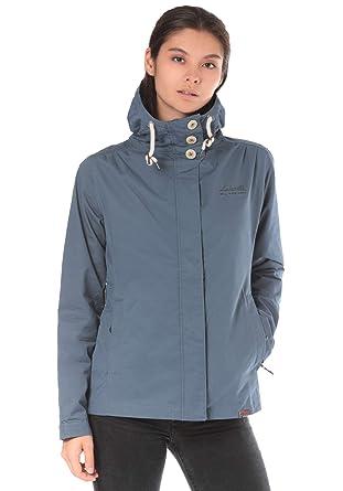 Lakeville Mountain Damen Übergangs-Jacke ABIA Leichte Outdoor  Funktionsjacke mit Kapuze Dünn   Atmungsaktiv Freizeit f83fd3f50b