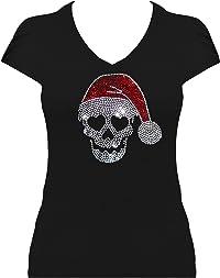 t-shirt tête de mort strass 2