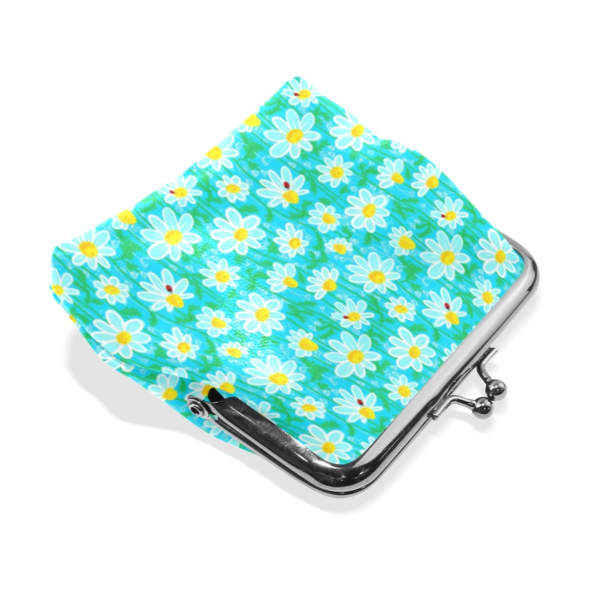 Exquisite Buckle Coin Purses Ladybirds And Camomile Mini Wallet Key Card Holder Purse for Women