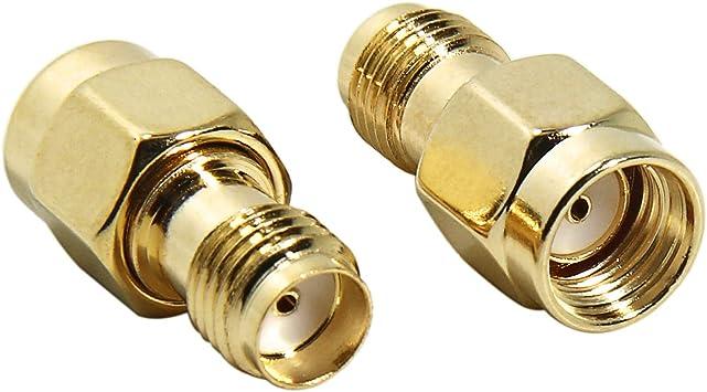 SMA Hembra A Rp-SMA Macho, SMA Adaptador Coaxial RF Conector ...