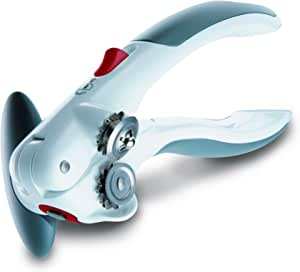 """Zyliss - 20362 ZYLISS Lock N' Lift 7"""" Manual Handheld Can Opener with Locking Mechanism, White/Gray"""