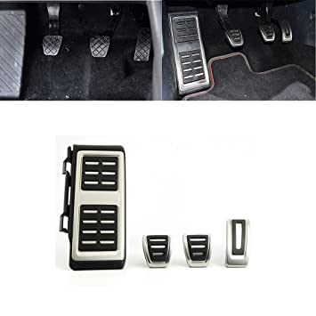 MT capuchones reposapiés Pedales Gas Pedal Pedal de freno A3 8 V S3 RS3 embrague: Amazon.es: Coche y moto