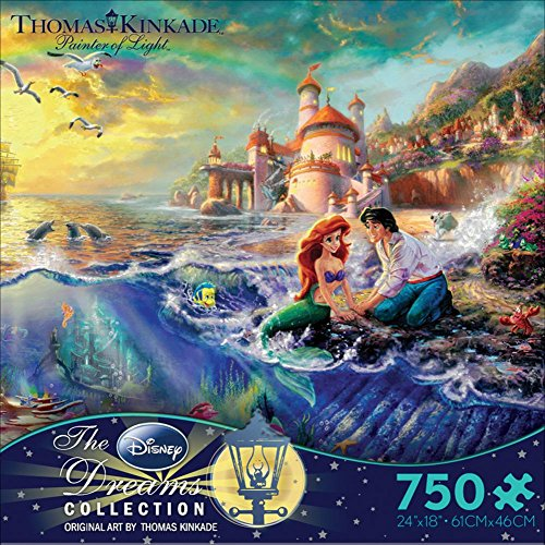 Thomas Kinkade Disney Dreams - The Little Mermaid 750 Piece Jigsaw Puzzle 24 x 18in