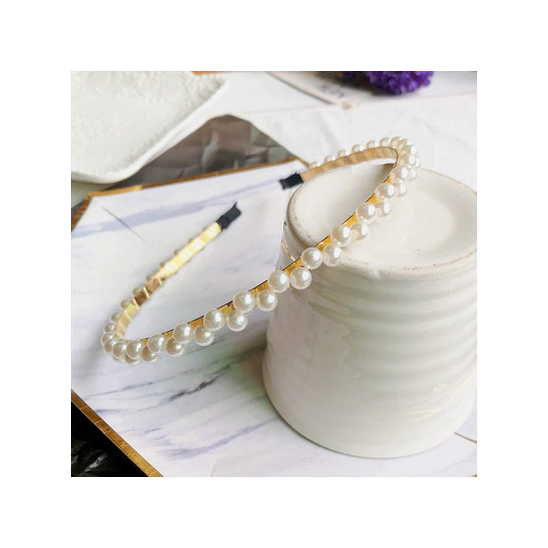 Fashion Wedding Birthday Crystal Pearl S Headband Hair Accessories Head Wear Hoop For Women,G