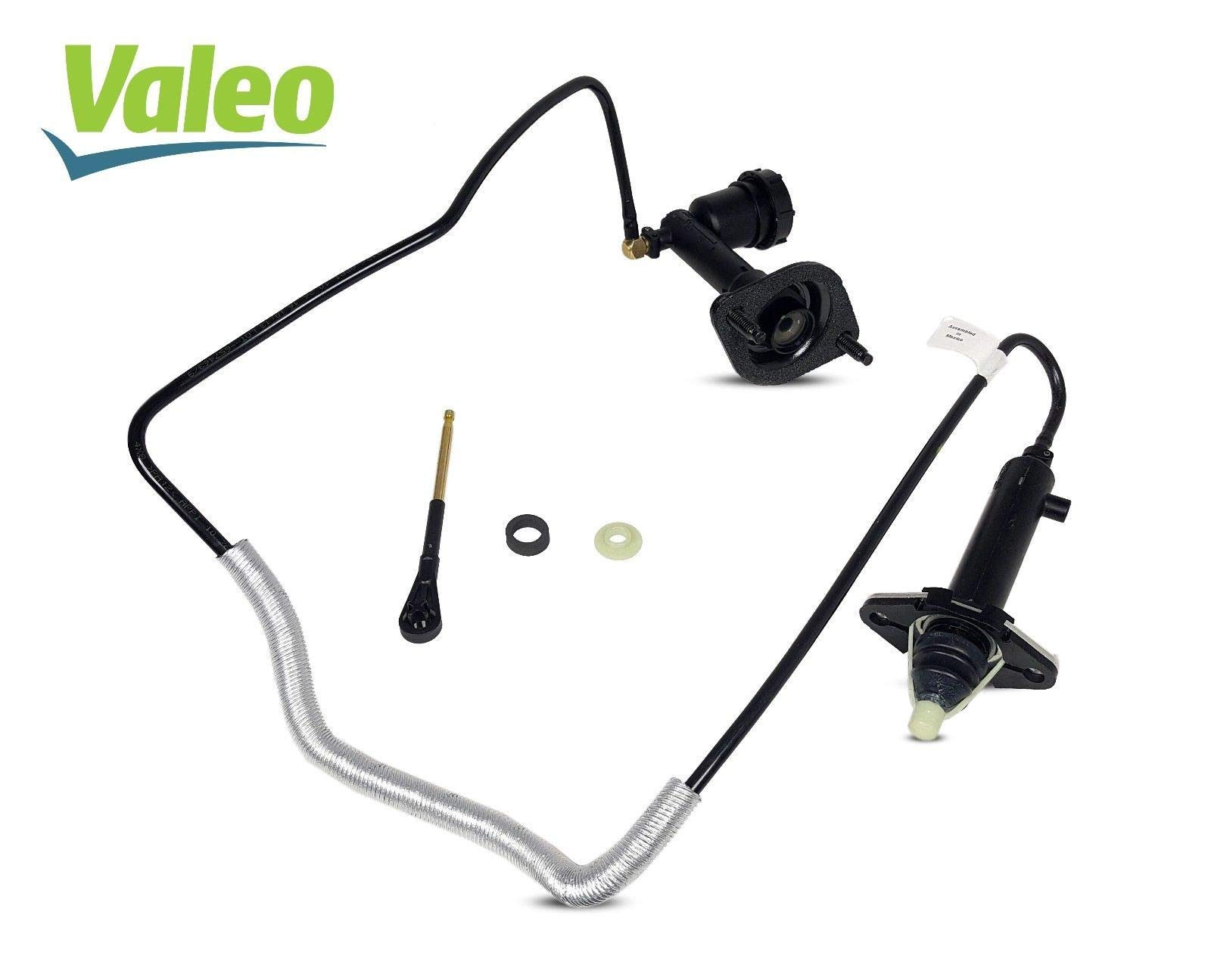 Pre-Filled Clutch Master And Slave Cylinder Line Assembly Valeo Works With Jeep Wrangler Rubicon Sahara Sport Unlimited X 60 Aniversario 2001-2004 4.0L L6 Gas Ohv