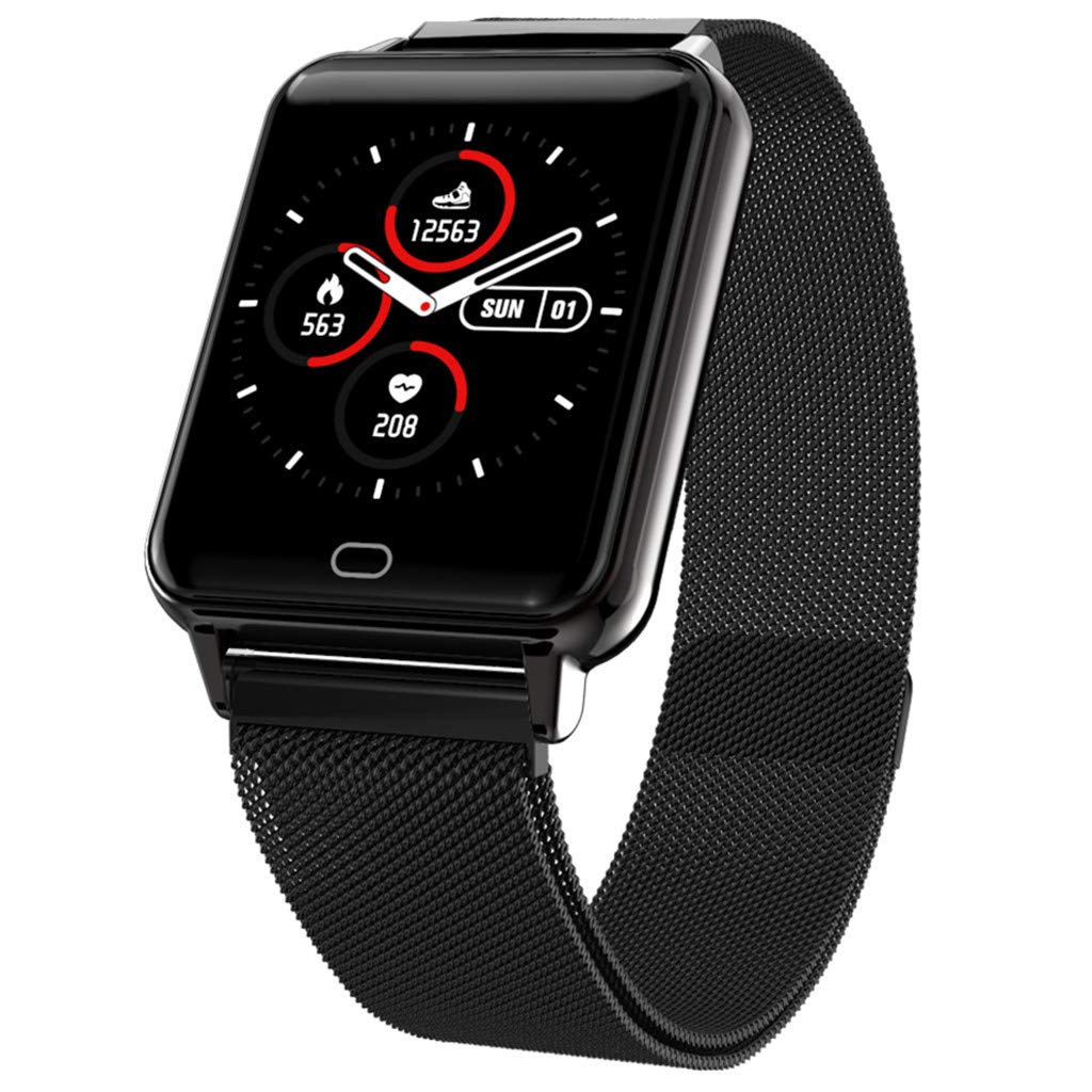 Opef M21 Big Screen Waterproof Smart Sports Watch, Sports Fitness Calorie Wristband, Activity Heart Rate Tracker Monitor for Android and iOS (F) by Opef