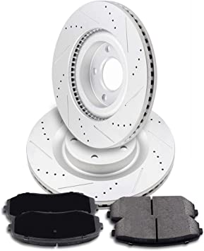 2006 2007 for Ford E-250 Front /& Rear Brake Rotors /& Ceramic Pads