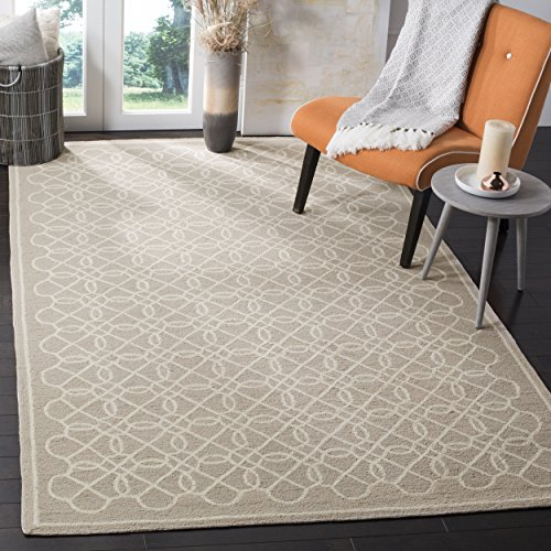 Cheap Safavieh Chelsea Collection HK739A Hand-Hooked Tan and Ivory Premium Wool Area Rug (3'9″ x 5'9″)