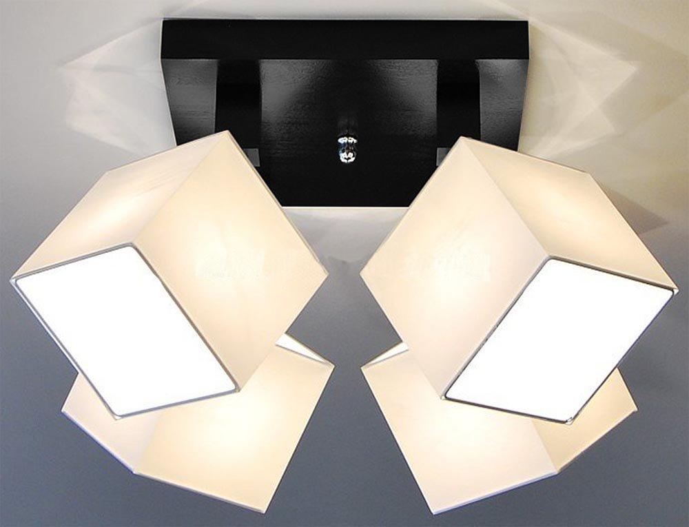 Designer Designer Designer Decken Leuchte Lampe Spot Deckenleuchte Strahler Salon Hotel Bar Theke E27 LED Bern 27a (Sockelfarbe  weiss) 9bb70b