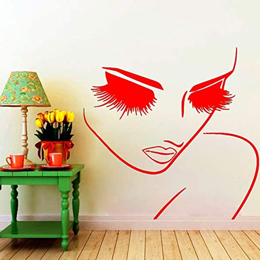 xingbuxin Salon Girl Beauty Face Peluquería Hair Art Tatuajes de ...
