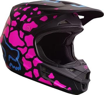 Casco Fox V1 grav, negro / rosa