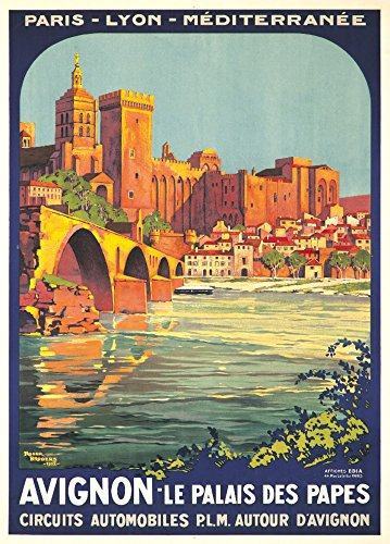 Avignon Vintage Poster (artist: Broders, Roger) France c. 1922 (9x12 Art Print, Wall Decor Travel (Avignon Wall Lantern)