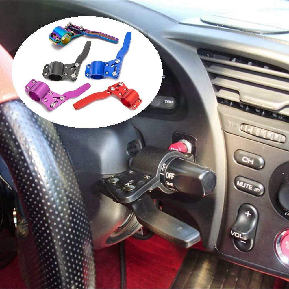 Neo Chrome Epman EP-CA077 Aluminium Car Styling Adjustment Steering Wheel Signal Rod Extender Steering Wheel Turn Rod Extension Turn Signal Lever Position Up Kit