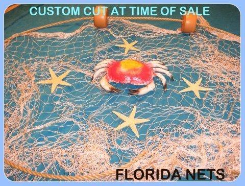 15 x 9 Angeln Net, Netz, nautisches Display, mit Krabbe, Seestern, Seil und schwimmt von Florida Netze
