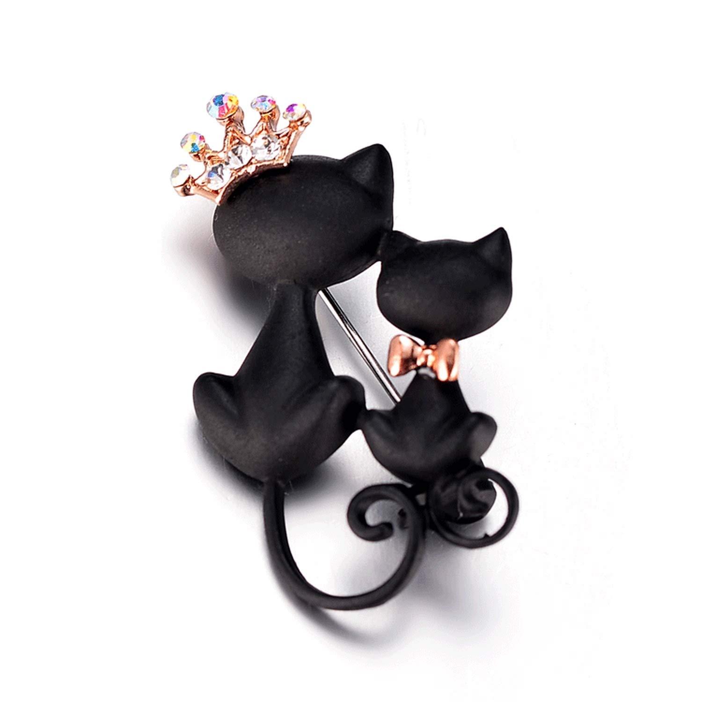 black cat brooch adorn black cat brooch sweater accessories