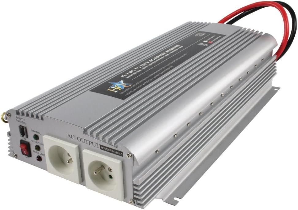 Netzteile /& Spannungsumwandler HQ 12V-230V 1700W Netzteil /& Spannungsumwandler Auto Silber Auto, 12 V, 1700 W, 230 V, 50 Hz, 90/%