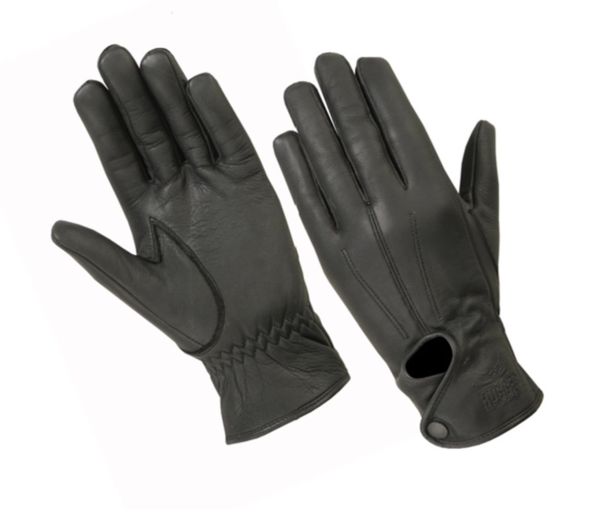Ladies Water Resistant Leather Driving Glove, Motorcycles, Casual Wear, Second Skin Fit Unlined Glove (X-Large, Black)