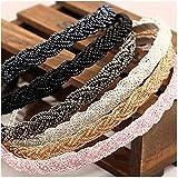 Casualfashion 4Pcs Elegant Women's Beaded Hair Hoop Headband Hair Band Accessories