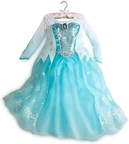 Brand New déguisement Elsa Princesse Costume de partie 3,4,5,6,7,10 et 11 ans