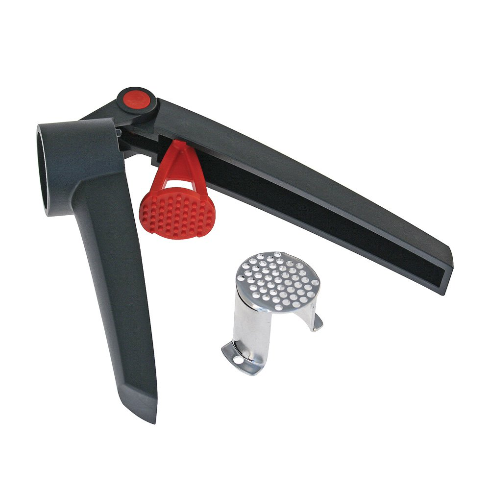 Swissmar SwissPress Garlic Press, Black/Red