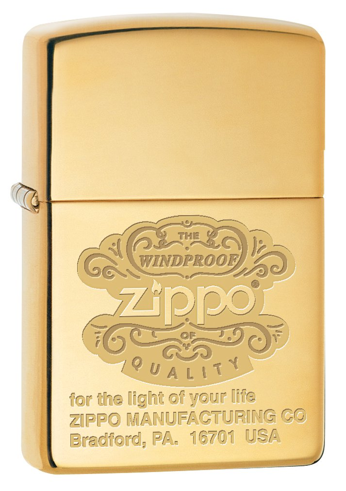 Zippo Custom Lighter: Zippo Windproof - High Polish Brass 78684
