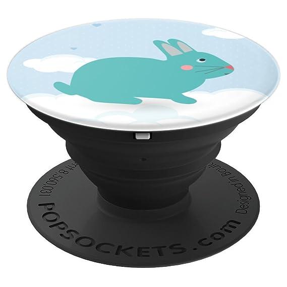 amazon com cute sky bunny rabbit pop socket animal illustraton