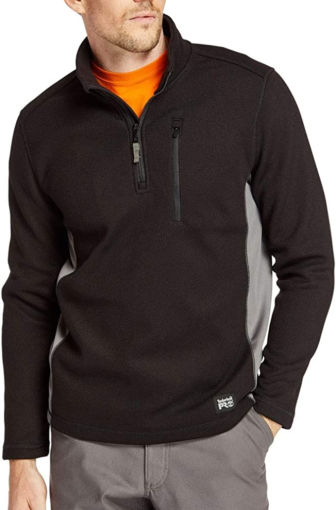 Timberland Mens Quarter Zip Grey Fleece Sweater