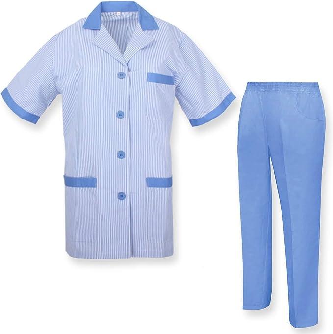 MISEMIYA - Bata Laboratorio Y PANTALÓN Sanitarios Unisex Uniformes Sanitarios MÉDICOS Enfermera Dentistas Ref.T8208 - XS, Celeste: Amazon.es: Ropa y accesorios