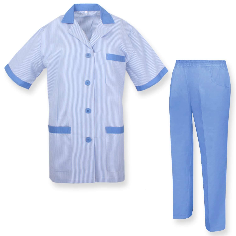 MISEMIYA - Bata Laboratorio Y PANTALÓN Sanitarios Mujer Uniformes Sanitarios MÉDICOS Enfermera Dentistas Ref.T8208: Amazon.es: Ropa y accesorios