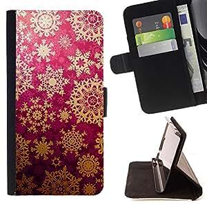 - ART WALLPAPER STAR PATTERN LACE SNOWFLAKE - - Prima caja de la PU billetera de cuero con ranuras para tarjetas, efectivo desmontable correa para l Funny HouseFOR Samsung Galaxy S5 Mini, SM-G800
