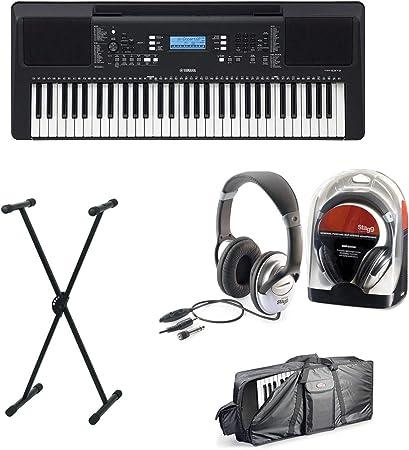 Yamaha PSR-E373 - Juego de teclado III con soporte ...