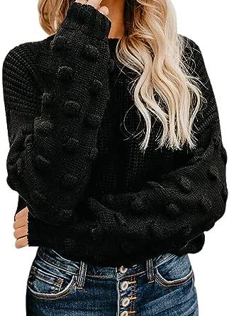 Camisas Mujer Jerseys Mujer Tops de suéter de Punto con ...