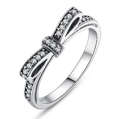 c6ec29218 Presentski New Bow 925 Sterling Silver Ring for Girlfriend: Amazon.ca:  Jewelry
