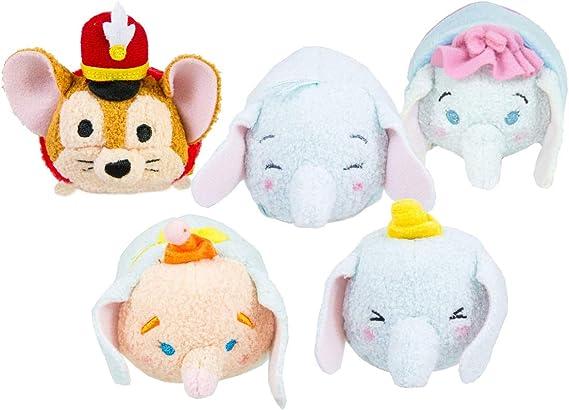 Tsum Tsum Disney Dumbo Pack de 5 Peluches 9 cm – Dumbo, Baby Dumbo ...
