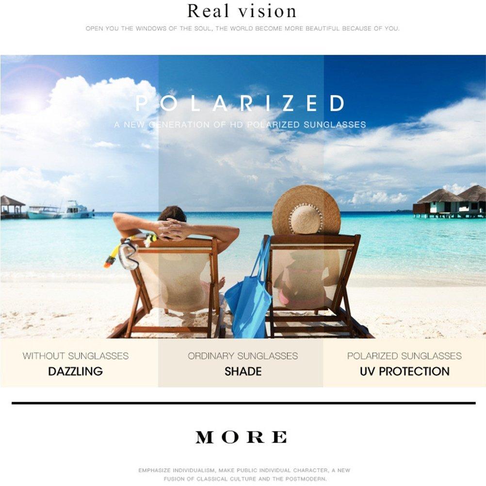 CJ Gafas de sol polarizadas Sra. Nuevas gafas de sol lentes de marco espejo gafas de conducción, 01: Amazon.es: Deportes y aire libre