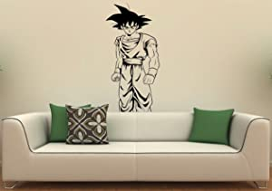 Son Goku Wall Decal Manga Anime Vinyl Sticker Japanese Home Interior Bedroom Decor Art Mural Door Sticker Housewares (3g01u)