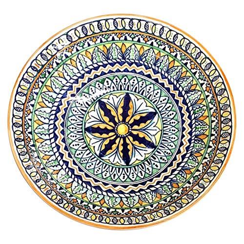 Raffaellesco Italian Ceramic - CERAMICHE D'ARTE PARRINI - Italian Ceramic Art Pottery Bowl For Fruit,Salad, Pasta Decorated Deruta Hand Painted Made in ITALY Tuscan