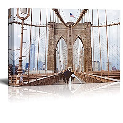 Canvas Wall Art - Brooklyn Bridge - Giclee Print Gallery Wrap Modern Home Art Ready to Hang - 12