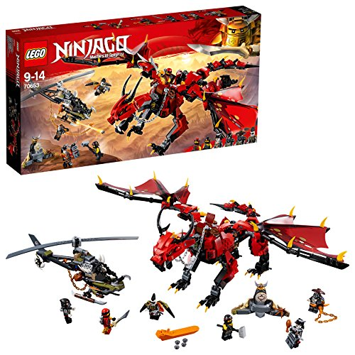 LEGO Ninjago Firstbourne Playset, Dragon & Hunter Helicopter Toy, Build & Play Dragon Toys for Kids